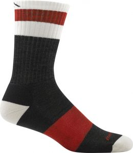 black and red sock