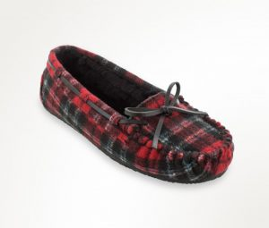 red plaid moccasin