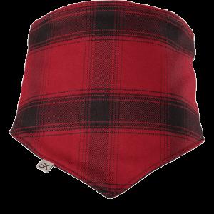 black and red bandana