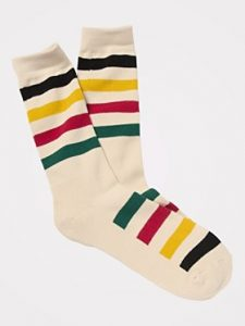 national parks stripe sock