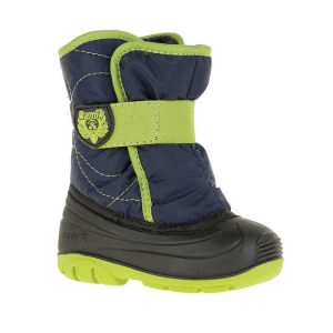 navy lime boot