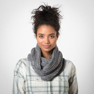 gray scarf