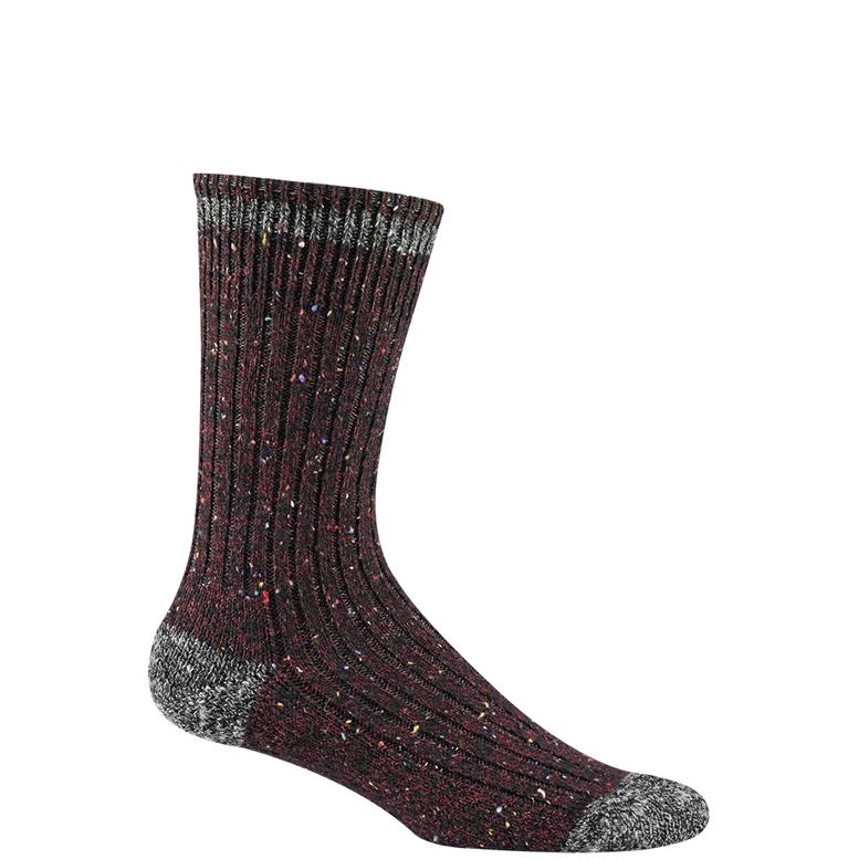 burgundy sock