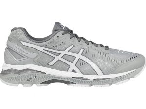 grey running shoe
