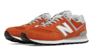 orange and white shoe