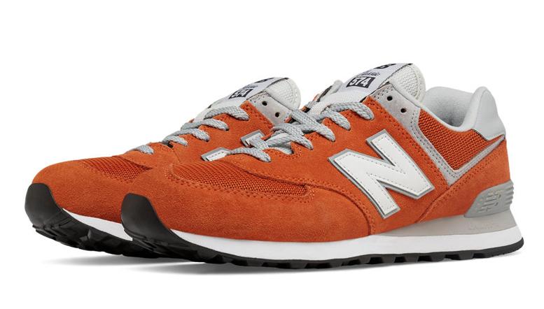orange and white shoe