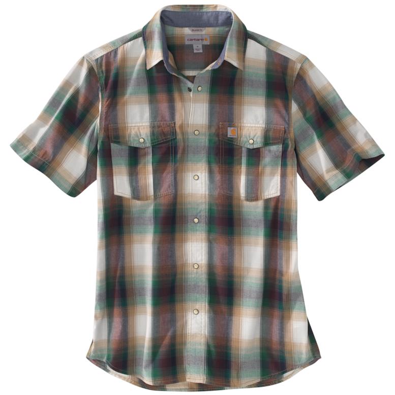hunter green plaid shirt