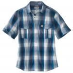 island blue plaid shirt