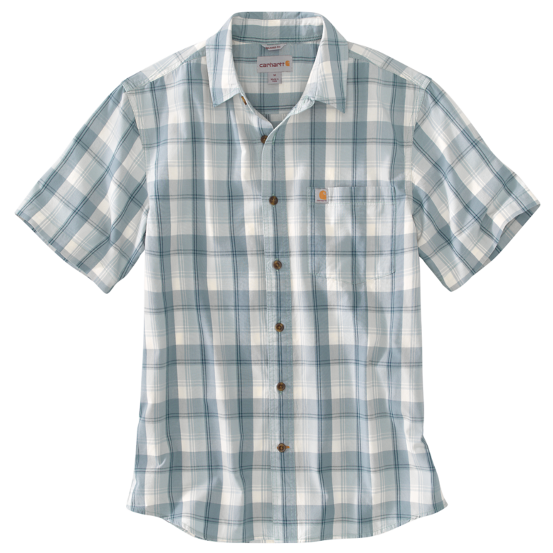 Mineral Blue Plaid Shirt
