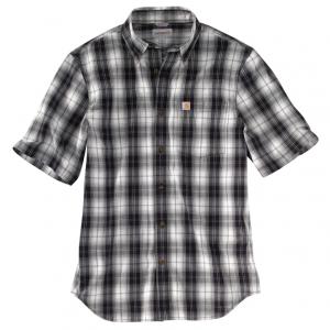 black plaid shirt