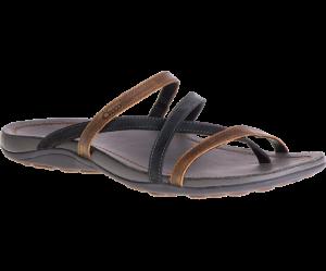 black and brown sandal