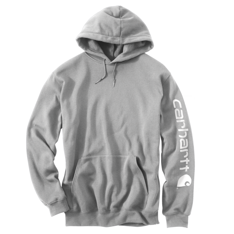 da8243b755e Midweight Signature Sleeve Logo Hooded Sweatshirt - Carhartt ...