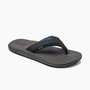 grey and blue sandal