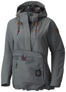 gray rain jacket