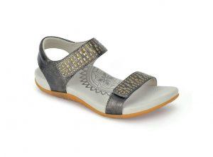 pewter sandal