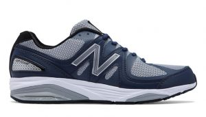 blue and gray shoe