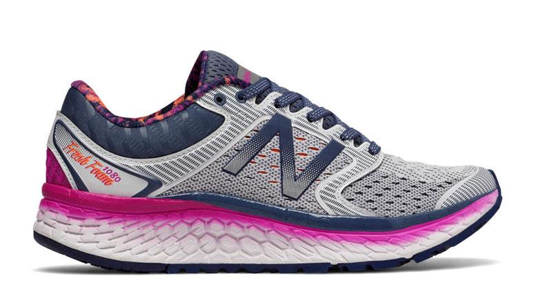 gray and purple shoe