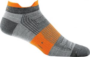 gray and orange socks