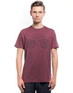 burgundy bike shirt
