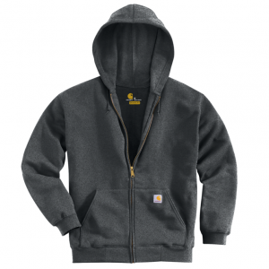 charcoal hooded sweatshirt