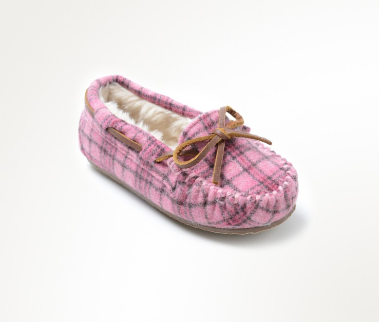 pink plaid slipper