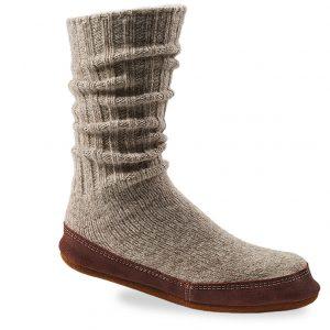 gray slipper sock