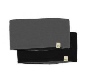 black and charcoal headband
